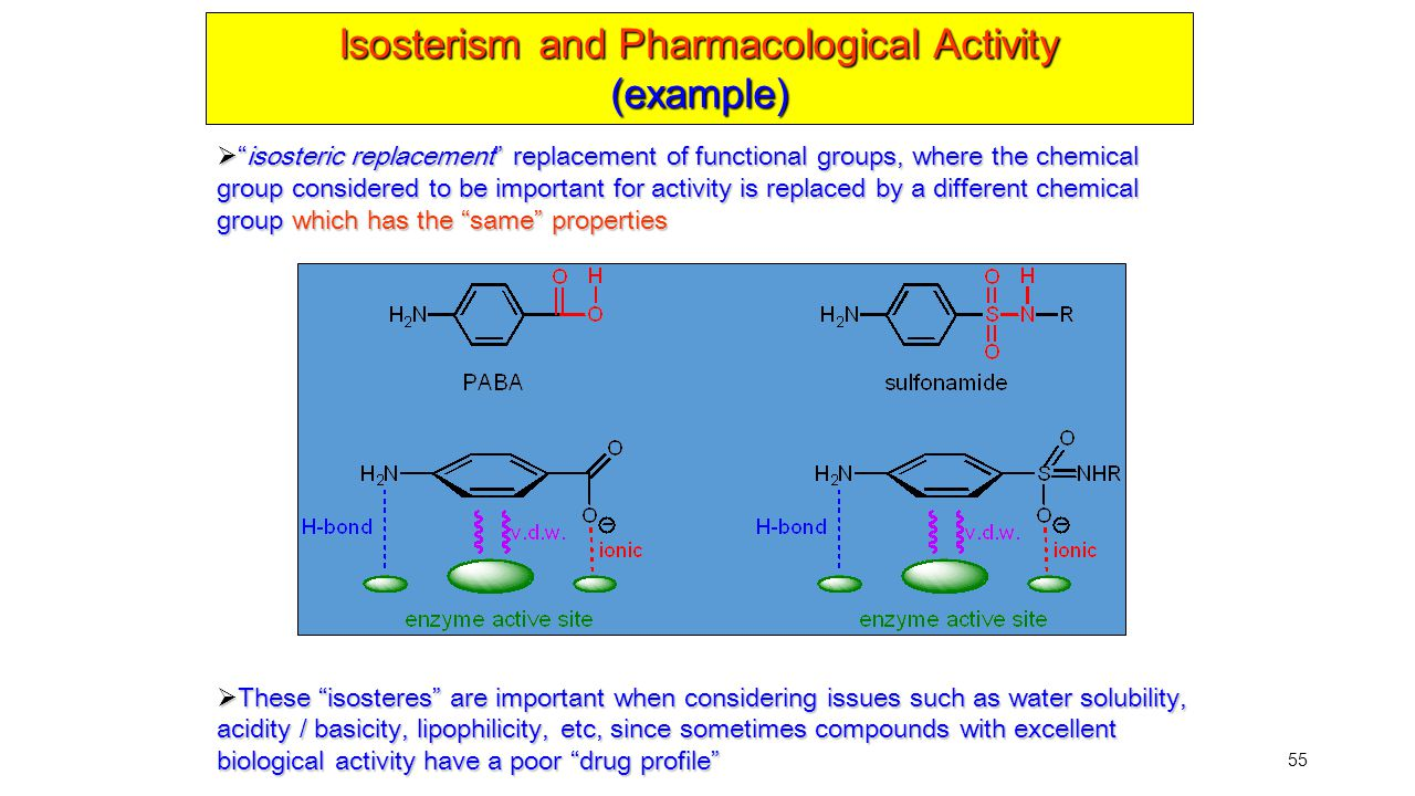 Isosterism and Pharmacological Activity