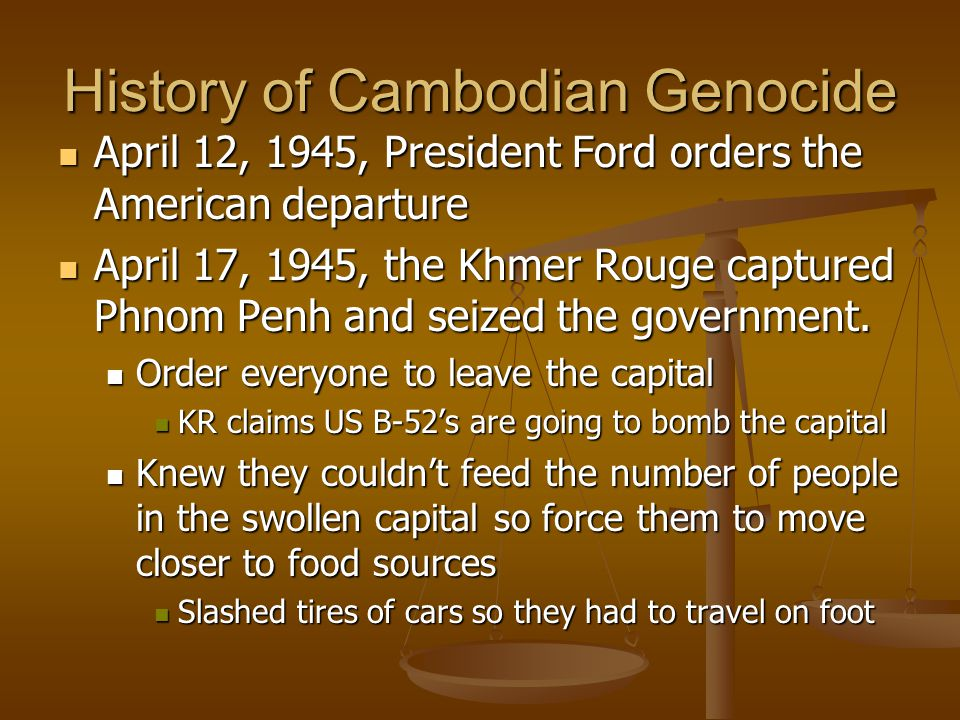 Cambodian Genocide The Khmer Rouge Regime Ppt Download