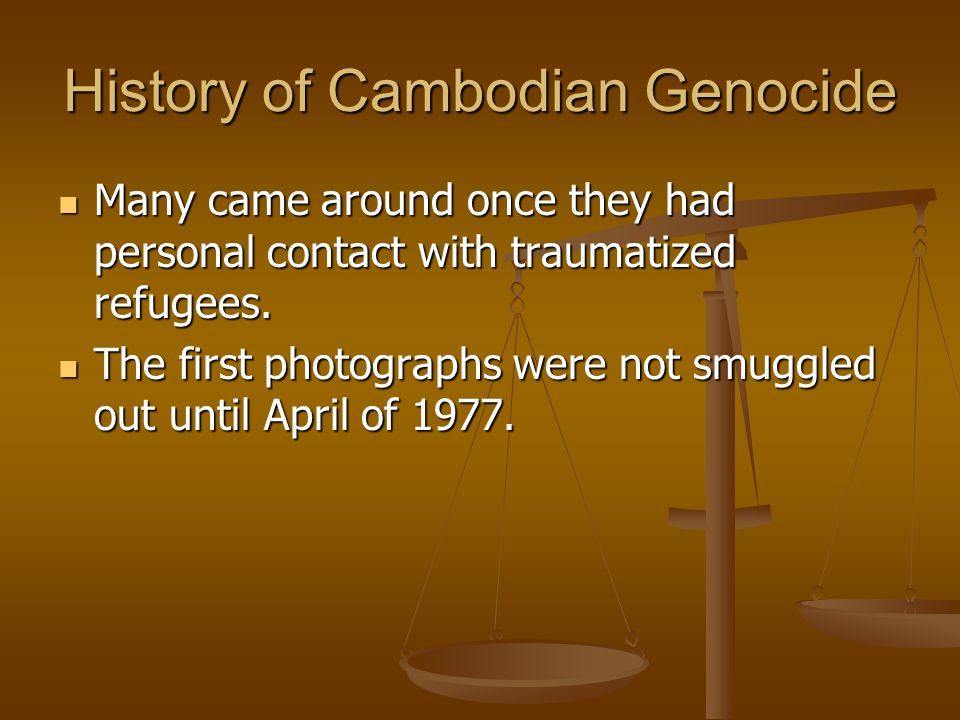History of Cambodian Genocide
