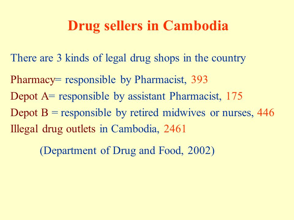 Drug sellers in Cambodia