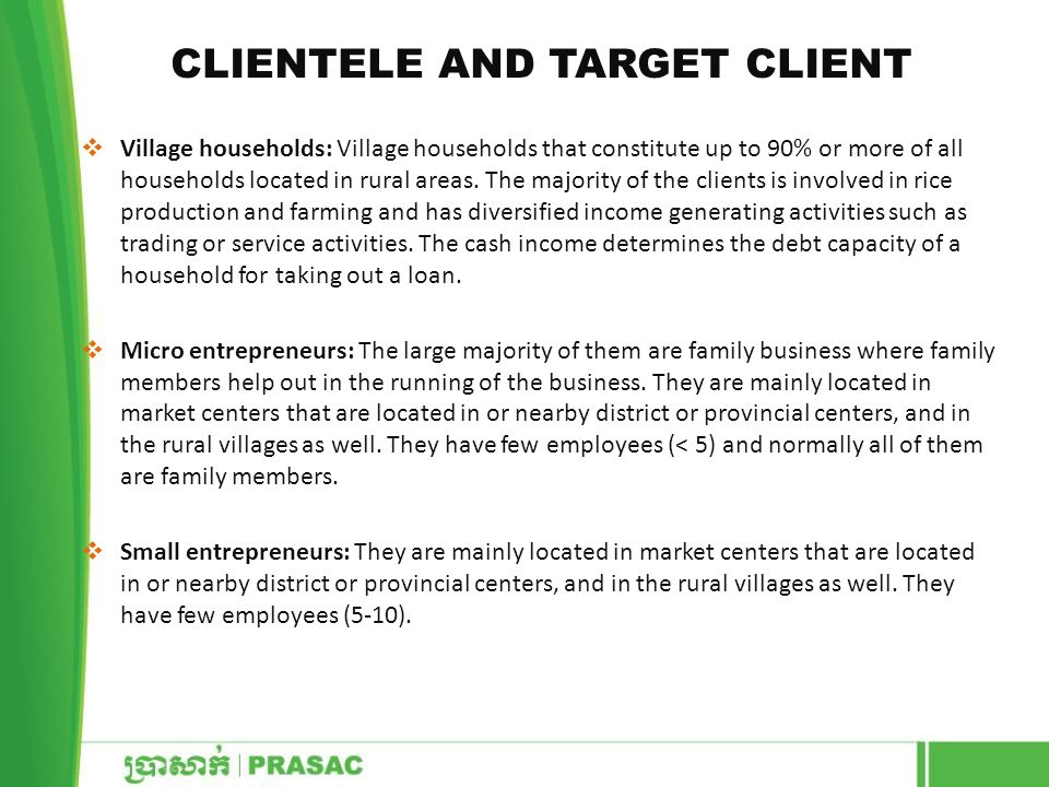 Clientele and Target Client