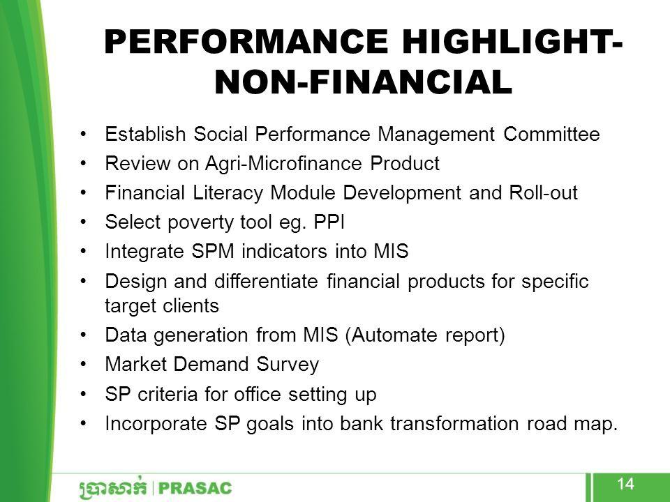 Performance highlight- Non-financial