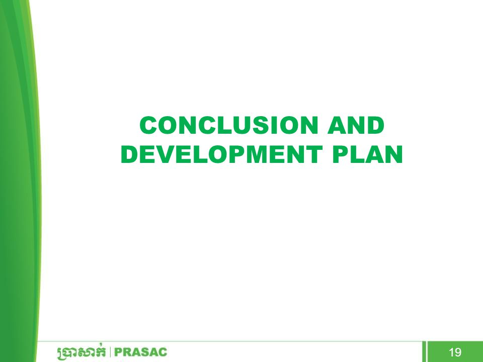 Conclusion and development plan