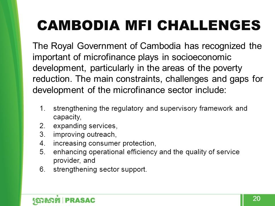 Cambodia MFI Challenges