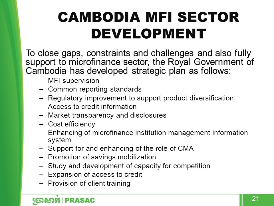 Cambodia MFI Sector development