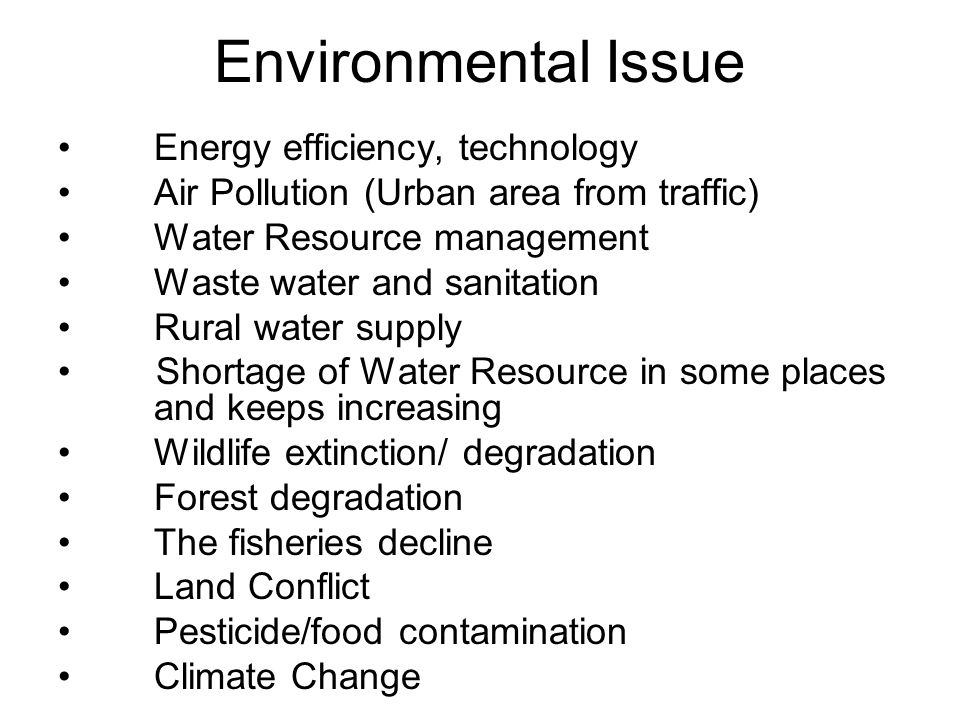 Environmental Issue Energy efficiency, technology