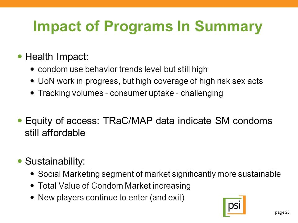 Impact of Programs In Summary