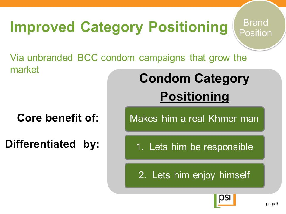 Brand Position Improved Category Positioning Via unbranded BCC condom campaigns that grow the market.