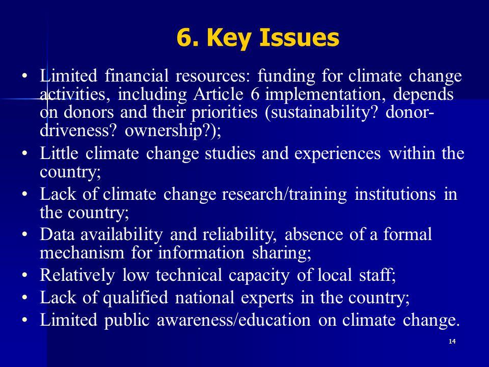6. Key Issues