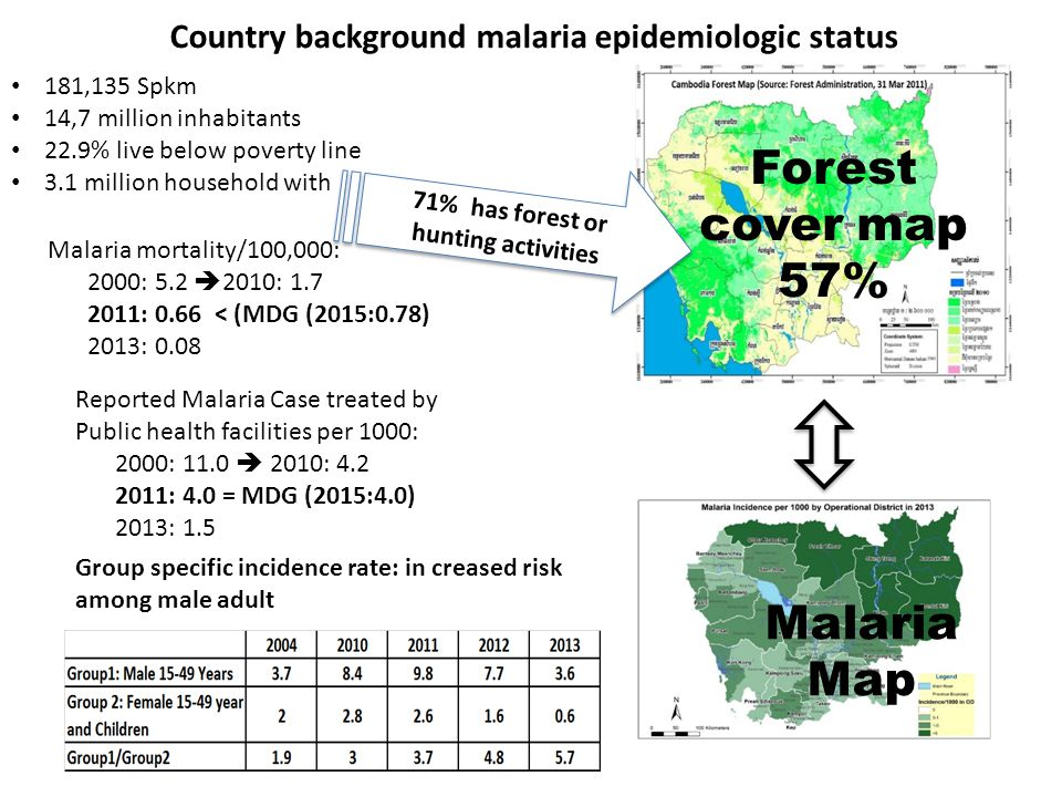 Forest cover map 57% Malaria Map