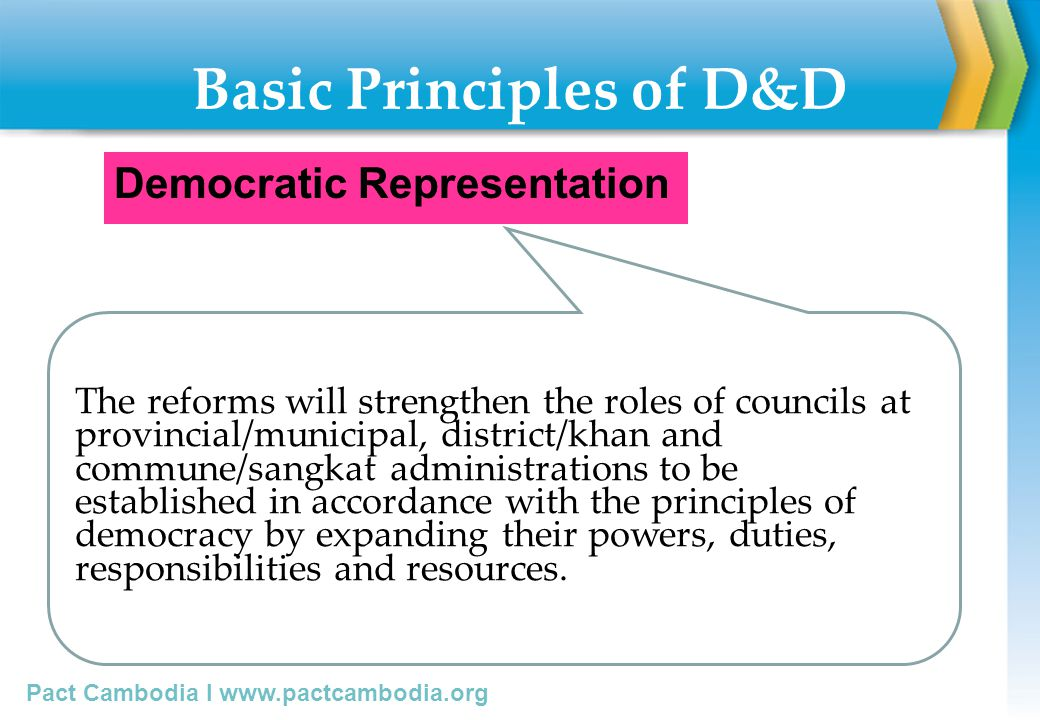 Basic Principles of D&D