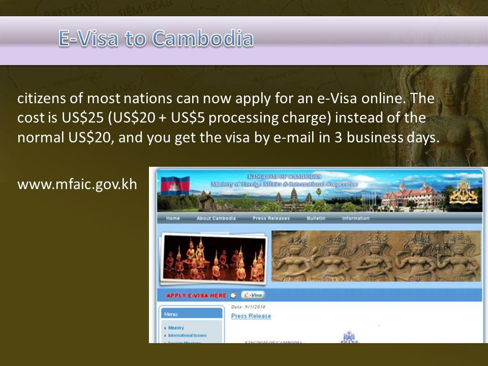 E-Visa to Cambodia