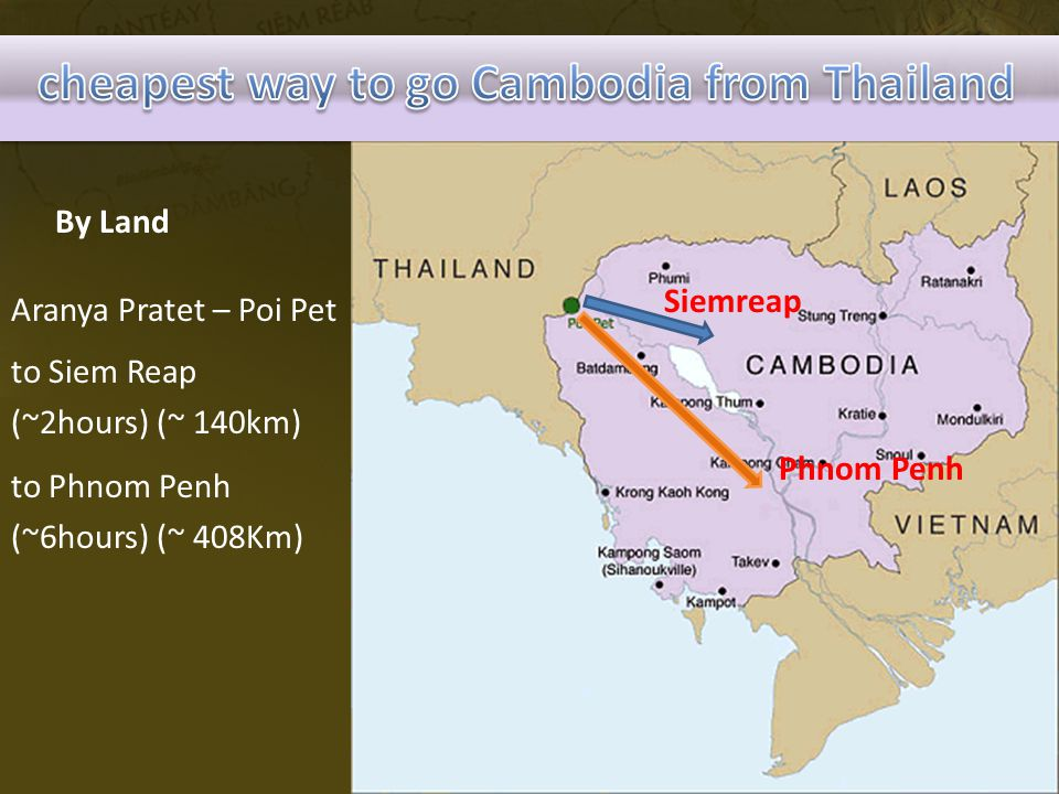 cheapest way to go Cambodia from Thailand