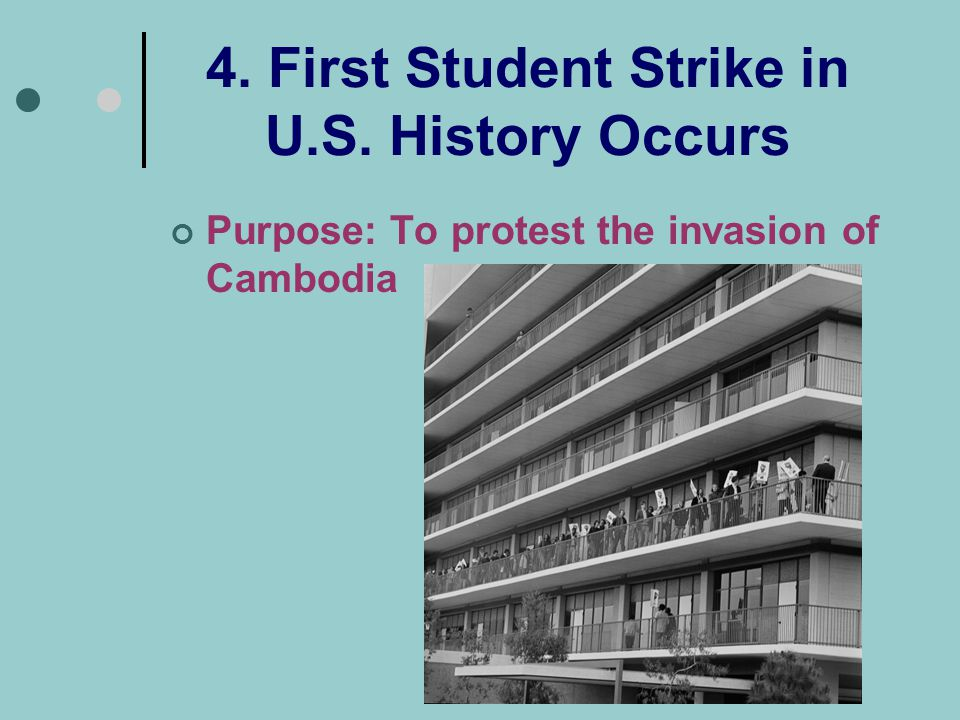 4. First Student Strike in U.S. History Occurs