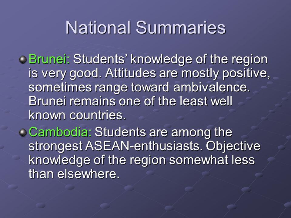 National Summaries