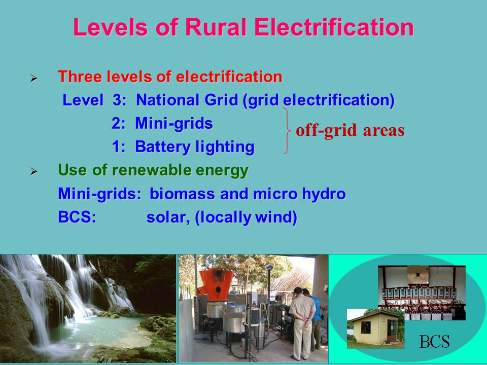 Levels of Rural Electrification