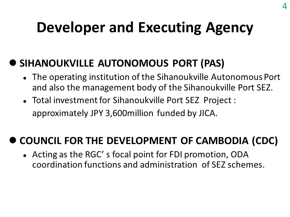 Developer and Executing Agency