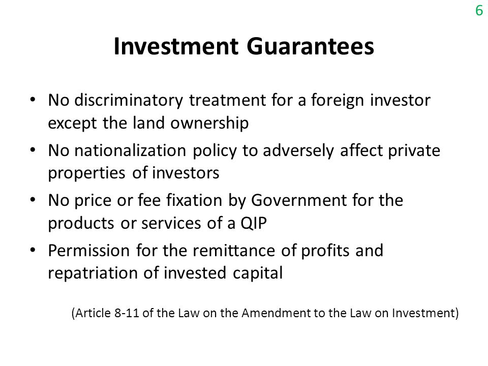 Investment Guarantees