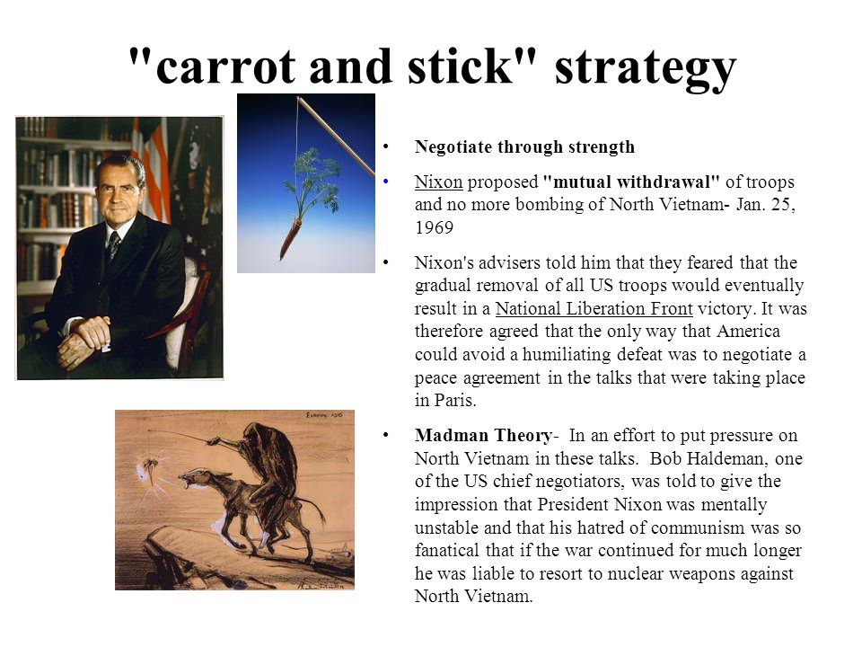 carrot and stick strategy