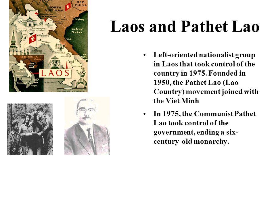 Laos and Pathet Lao
