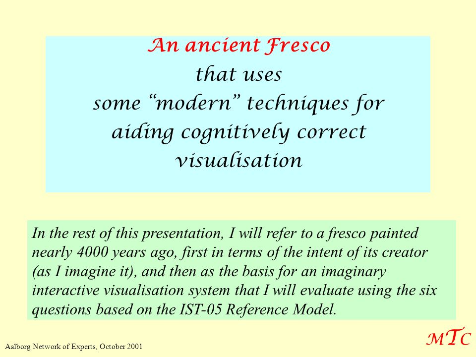 some modern techniques for aiding cognitively correct visualisation