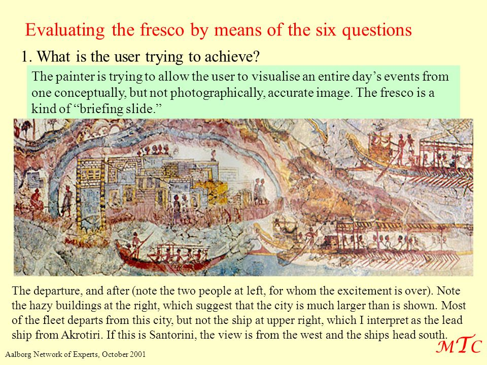 Evaluating the fresco by means of the six questions