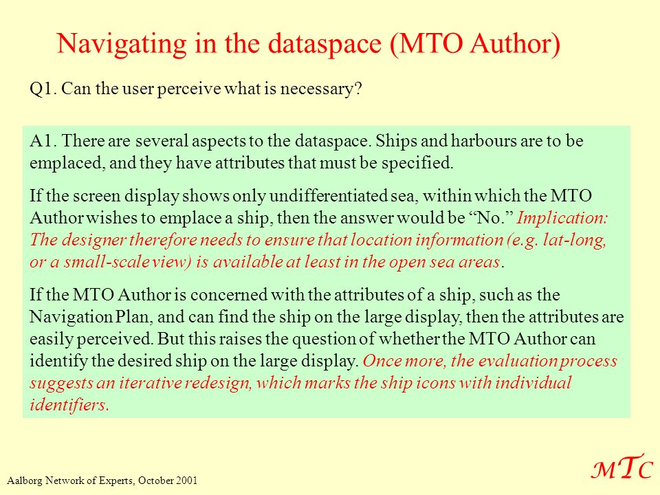 Navigating in the dataspace (MTO Author)