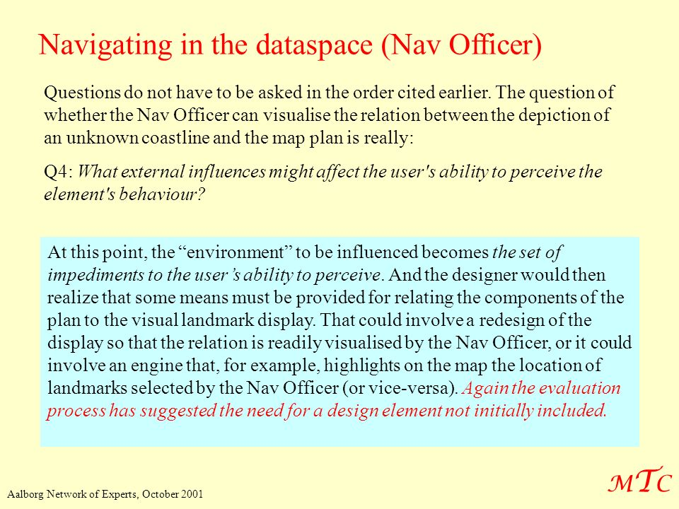 Navigating in the dataspace (Nav Officer)