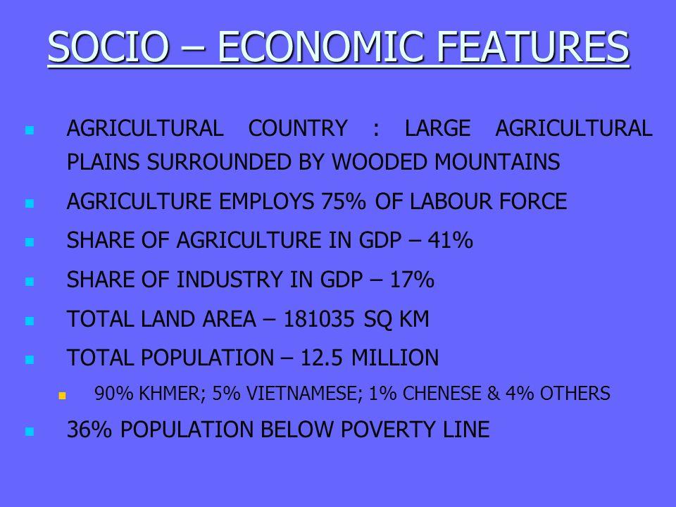 SOCIO – ECONOMIC FEATURES