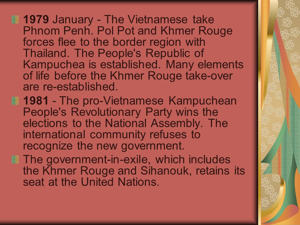 1979 January - The Vietnamese take Phnom Penh