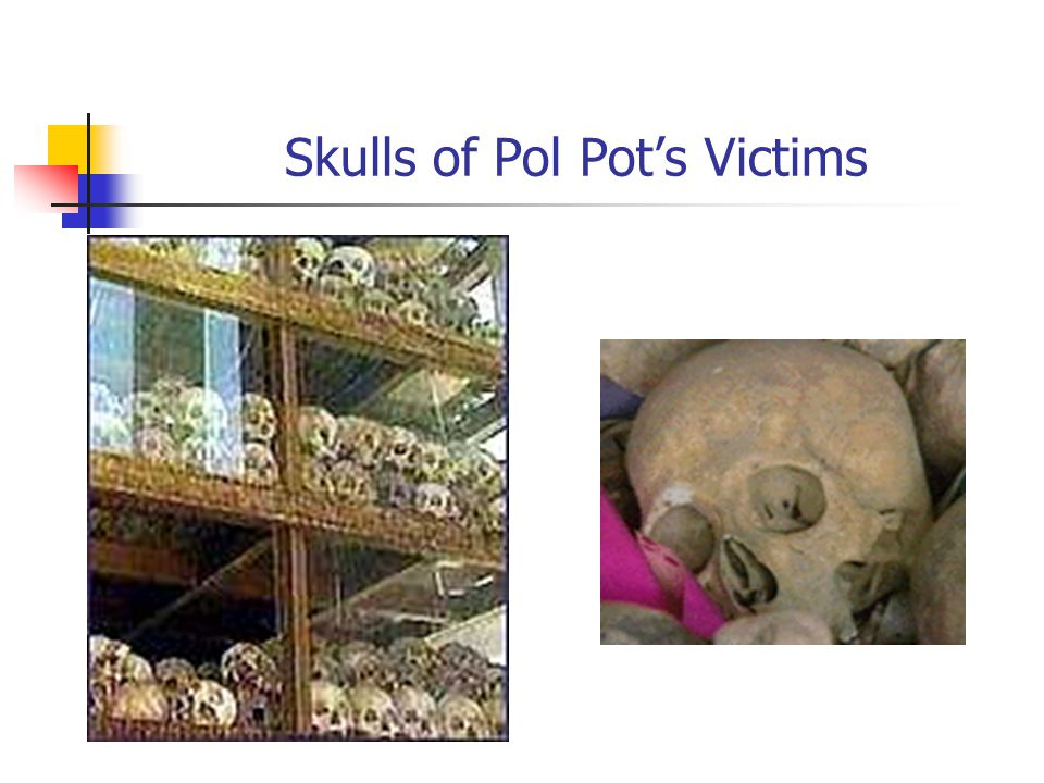 Skulls of Pol Pot's Victims