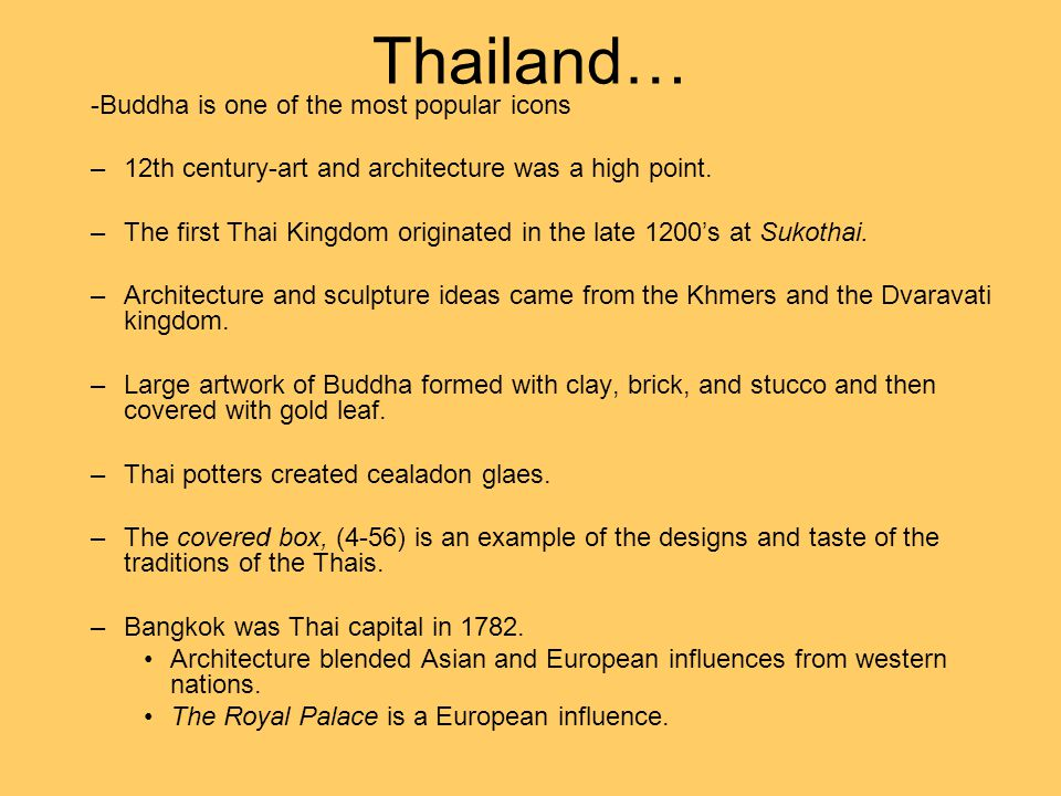 Thailand… -Buddha is one of the most popular icons