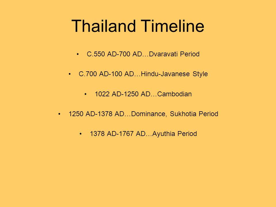 Thailand Timeline C.550 AD-700 AD…Dvaravati Period