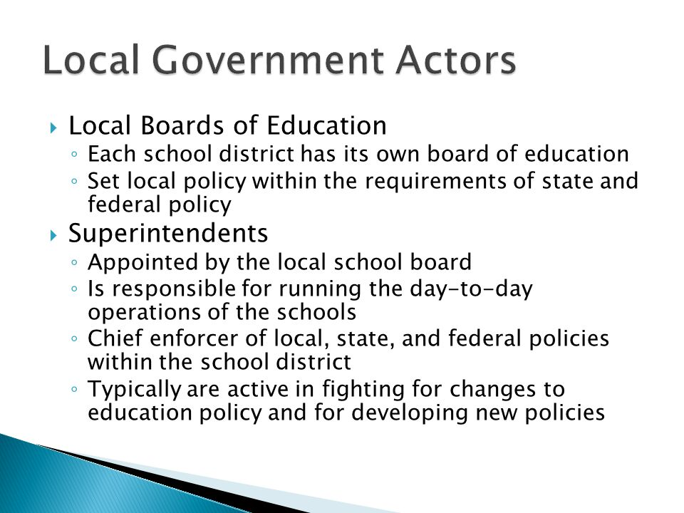 Local Government Actors