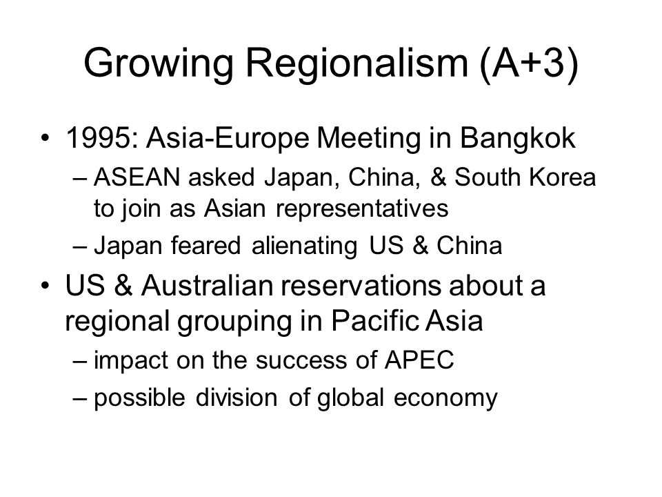 Growing Regionalism (A+3)