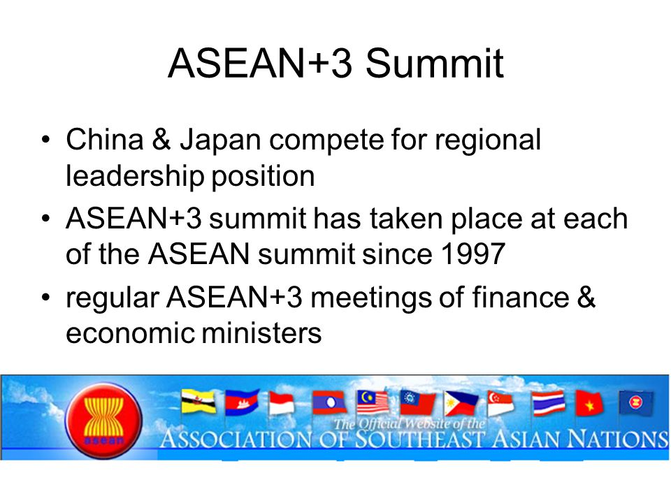 ASEAN+3 Summit China & Japan compete for regional leadership position