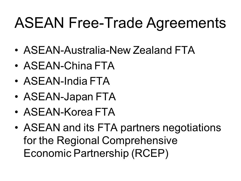ASEAN Free-Trade Agreements