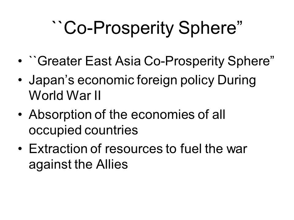 ``Co-Prosperity Sphere