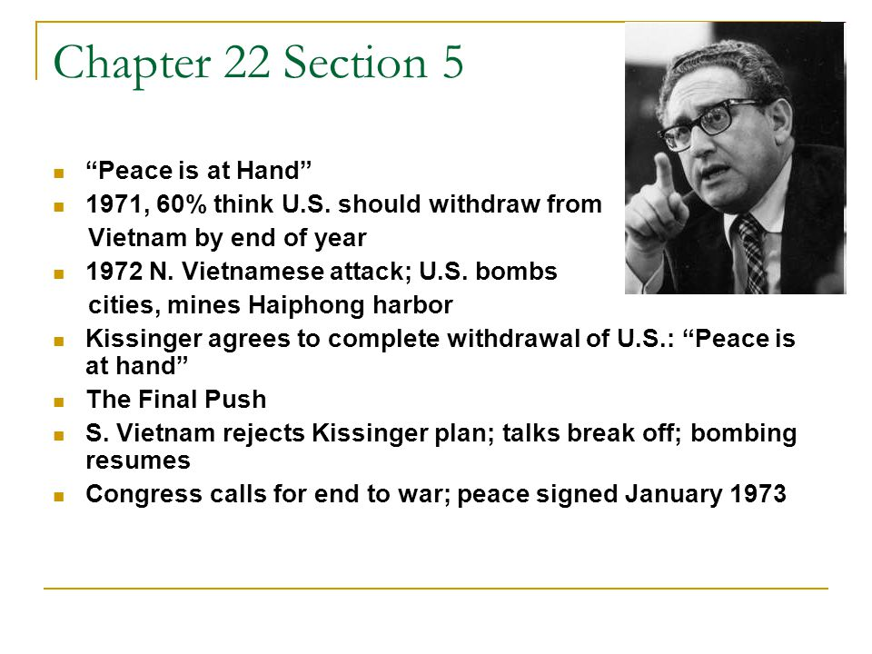 Chapter 22 Section 5 Peace is at Hand