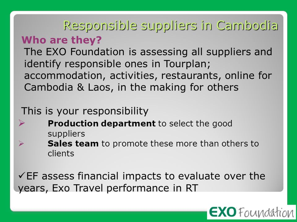 Responsible suppliers in Cambodia
