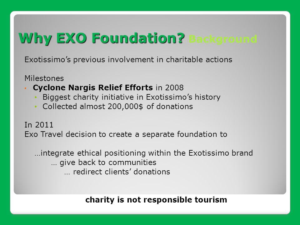 Why EXO Foundation Background
