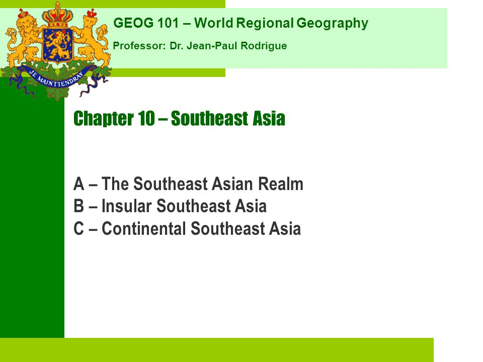 Chapter 10 – Southeast Asia