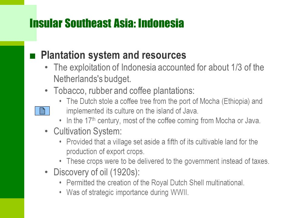 Insular Southeast Asia: Indonesia
