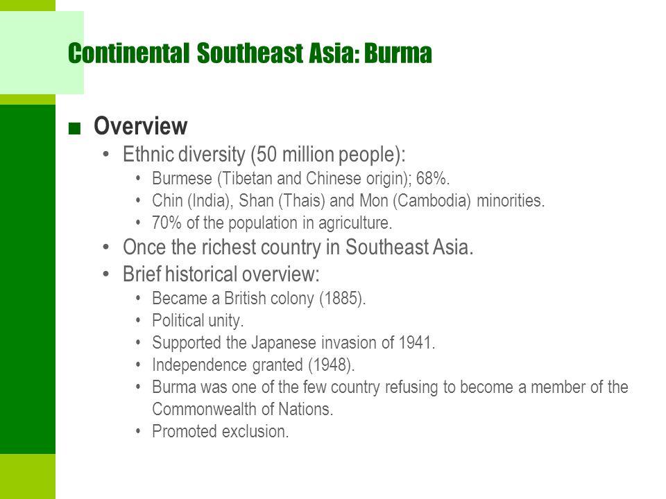 Continental Southeast Asia: Burma