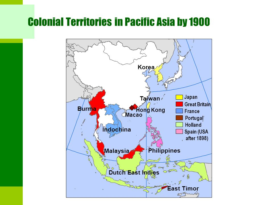 Colonial Territories in Pacific Asia by 1900