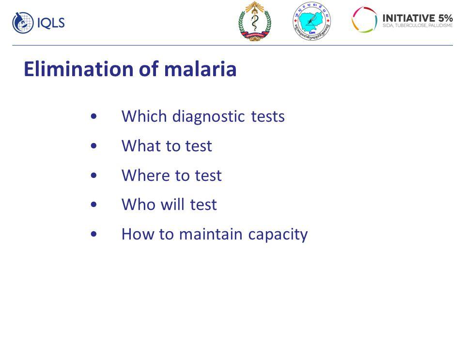 Elimination of malaria