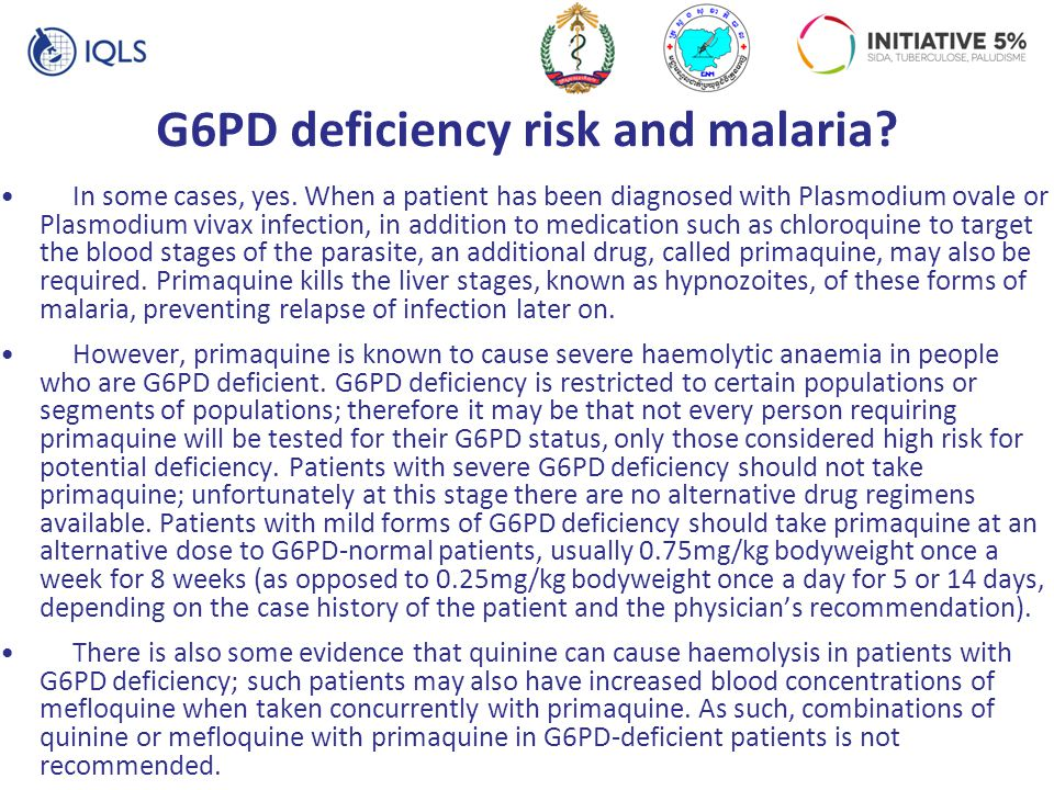 G6PD deficiency risk and malaria