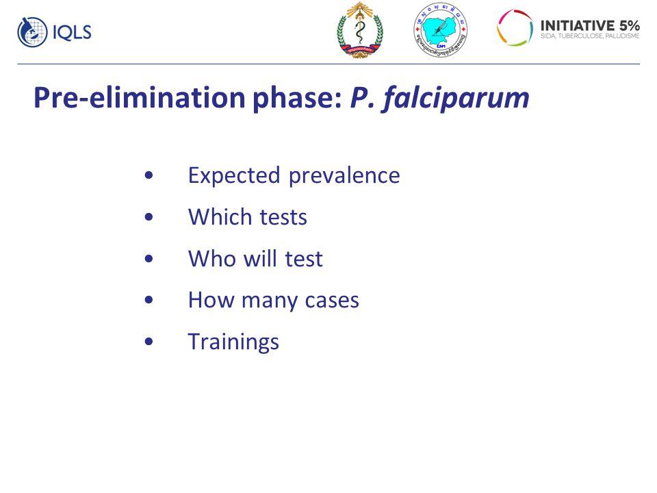 Pre-elimination phase: P. falciparum
