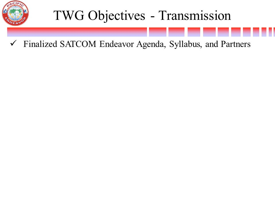 TWG Objectives - Transmission