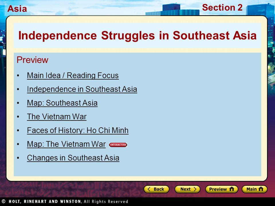 Independence Struggles in Southeast Asia